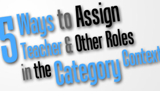 5 Ways To Assign Teacher Role In Category Context