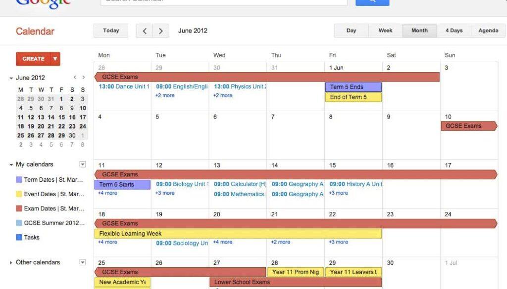 A Colourful Google Calendar
